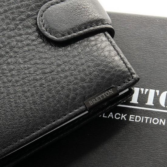 Чоловічий шкіряний портмоне BRETTON BE M3603 чорний