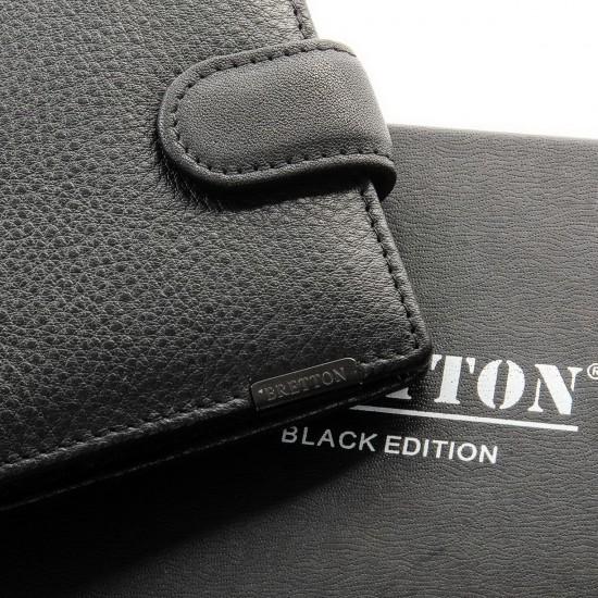 Мужской кожаный портмоне BRETTON BE M3602 черный