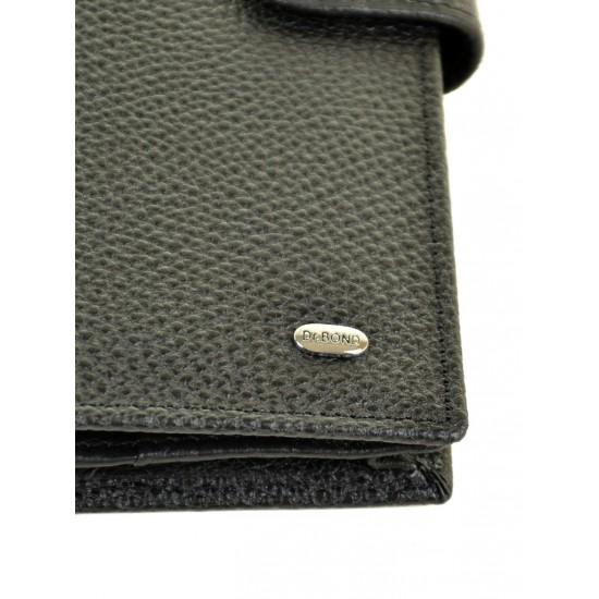 Мужской кожаный портмоне dr.Bond M47 черный