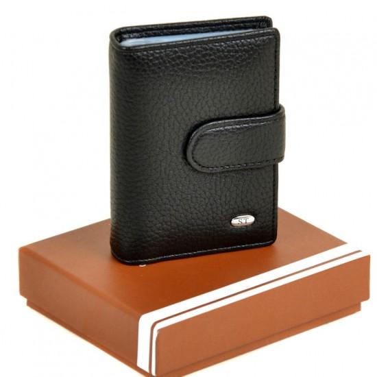 Чоловічий гаманець-візитниця SERGIO TORRETTI M21 чорний