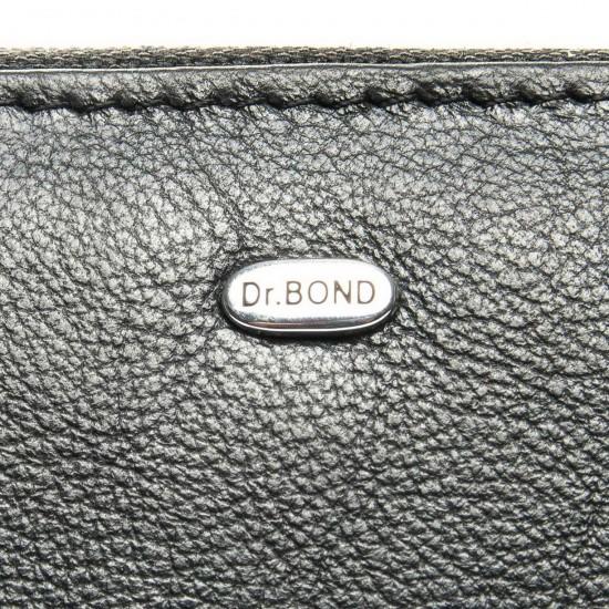 Женский кожаный кошелек визитница dr.Bond Classic WS-2 черный