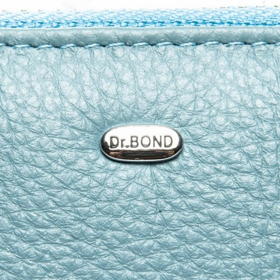 Женский кожаный кошелек визитница dr.Bond Classic WS-2 бирюзовый
