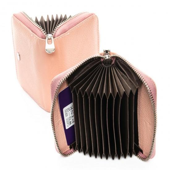 Жіночий шкіряний гаманець візитниця dr.Bond Classic WS-2 пудра