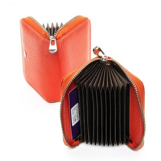 Женский кожаный кошелек визитница dr.Bond Classic WS-2 оранжевый