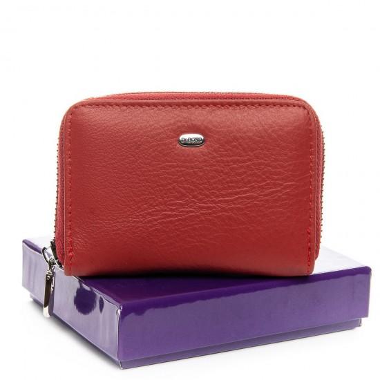 Жіночий шкіряний гаманець візитниця dr.Bond Classic WS-2 бордовий