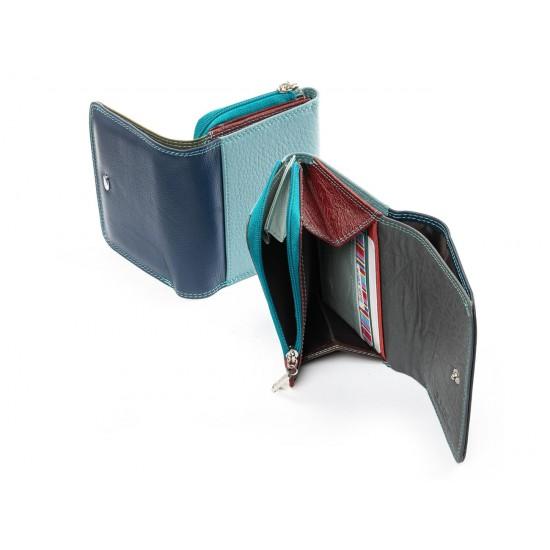 Жіночий шкіряний гаманець dr.Bond Rainbow WRS-17 червоний