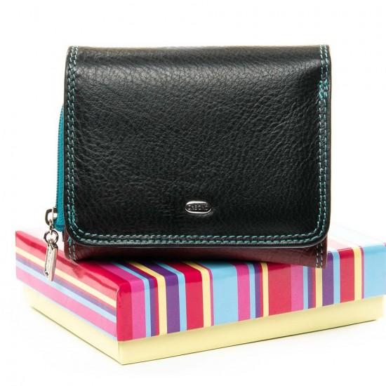 Жіночий шкіряний гаманець dr.Bond Rainbow WRS-17 чорний
