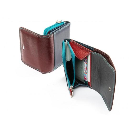 Женский кожаный кошелек dr.Bond Rainbow WRS-17 бордовый