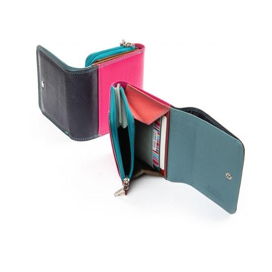 Жіночий шкіряний гаманець dr.Bond Rainbow WRS-17 фіолетовий