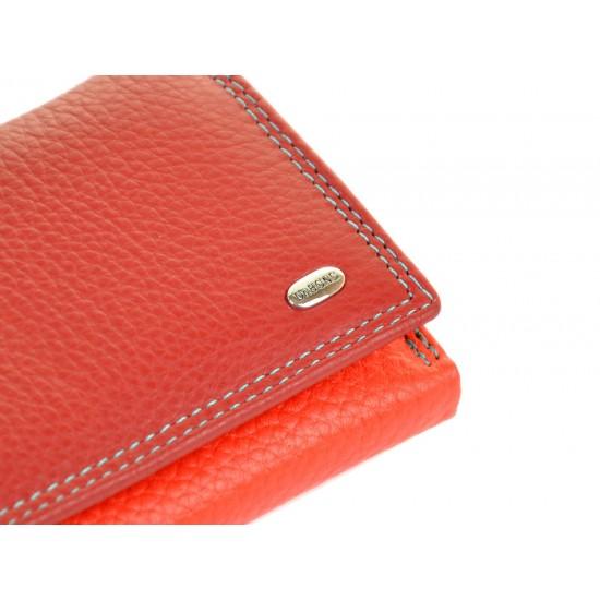 Жіночий шкіряний гаманець dr.Bond Rainbow WRS-11 червоний