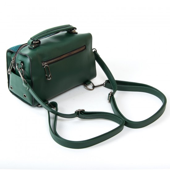 Женская сумочка-рюкзак из замша FASHION 53379 зеленый