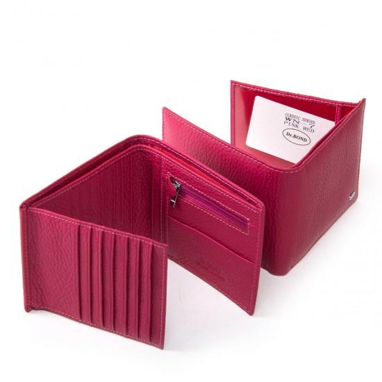 Женский кожаный кошелек dr.Bond Classic  WN-7 фуксия