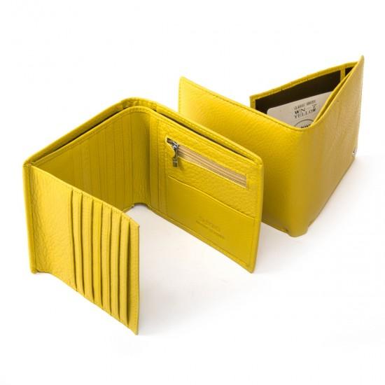 Жіночий шкіряний гаманець dr.Bond Classic WN-7 жовтий