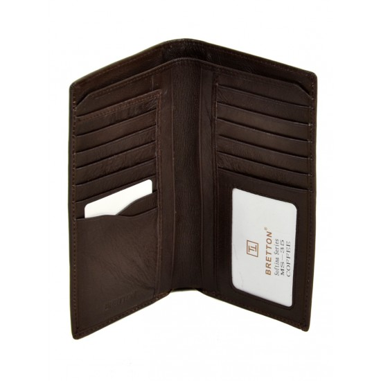 Чоловічий шкіряний гаманець Bretton Softina MS-35 кавовий