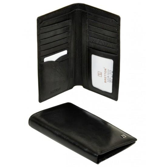 Чоловічий шкіряний гаманець Bretton Softina MS-35 чорний