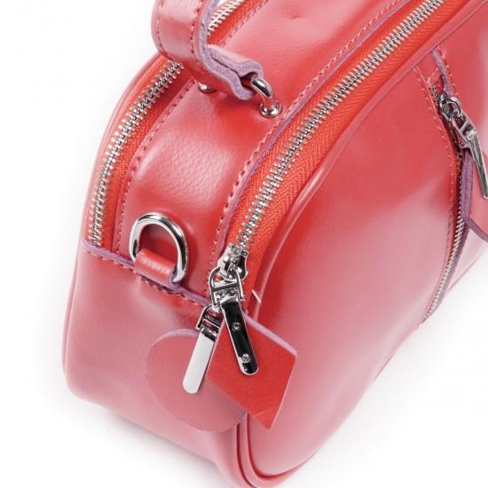 Жіноча сумка з натуральної шкіри ALEX RAI 8389 кораловий
