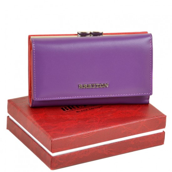 Женский кожаный кошелек Bretton W5520 фиолетовый