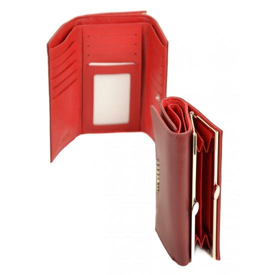 Женский кожаный кошелек Bretton W5520 бордовый