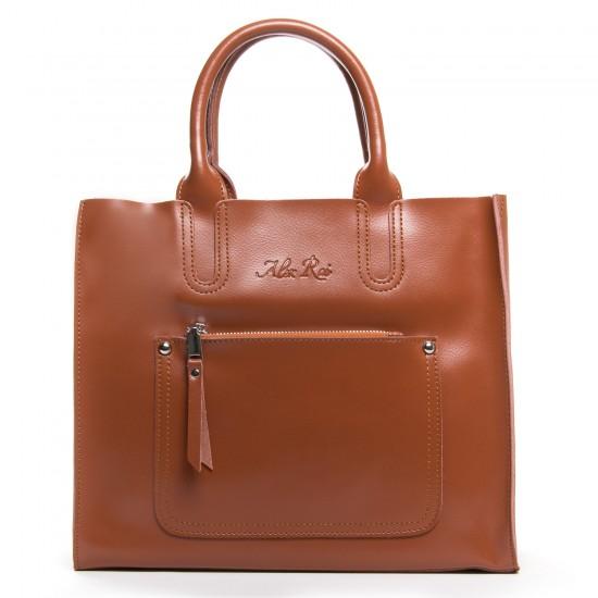 Женская сумка из натуральной кожи ALEX RAI 8634 рыжий