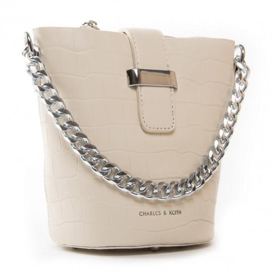 Женская сумочка-клатч FASHION 16909 бежевый