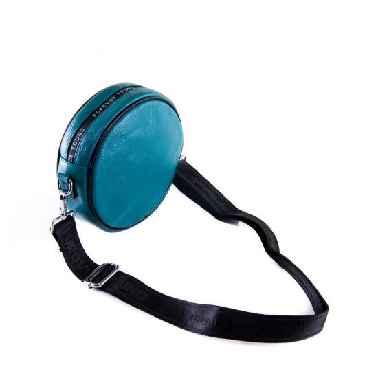 Жіноча сумочка-клатч з натуральної шкіри ALEX RAI 39032 синій