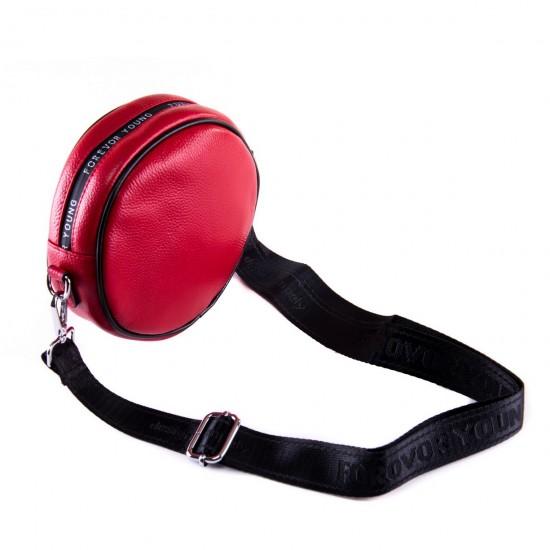 Женская сумочка-клатч из натуральной кожи ALEX RAI 39032 красный