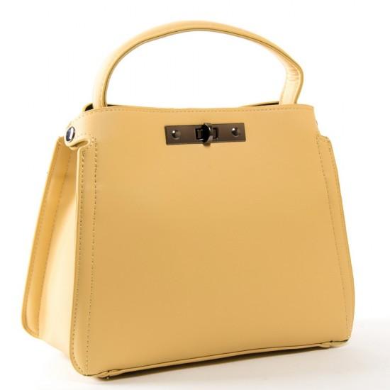 Женская сумочка на три отделения FASHION 5708 желтый