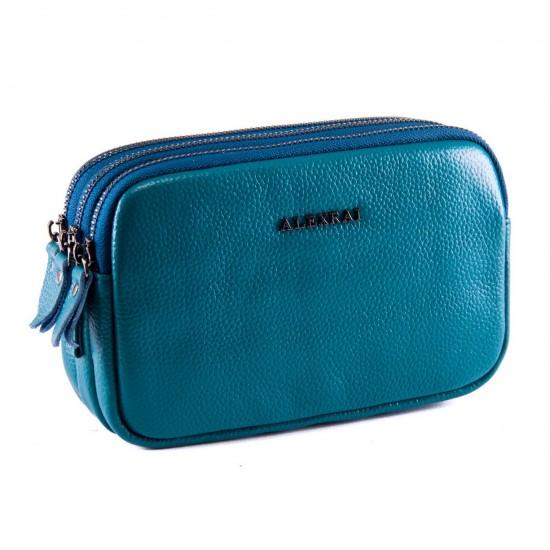 Женская сумочка-клатч из натуральной кожи ALEX RAI 60061 синий