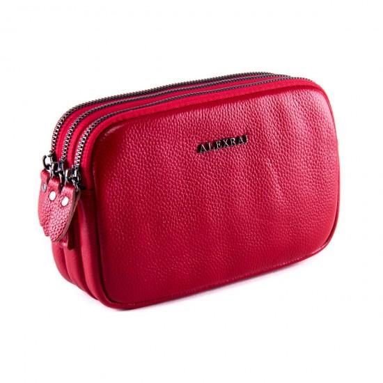 Женская сумочка-клатч из натуральной кожи ALEX RAI 60061 красный
