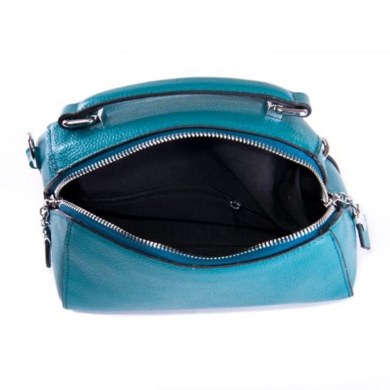 Жіноча сумочка з натуральної шкіри ALEX RAI 29018 синій