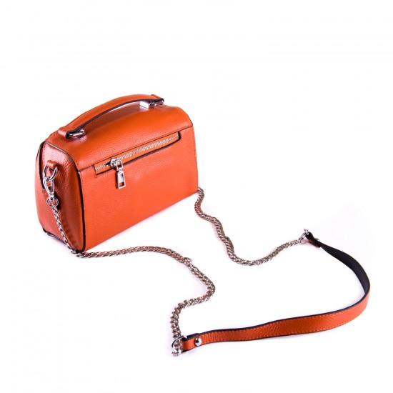 Жіноча сумочка з натуральної шкіри ALEX RAI 29018 помаранчевий