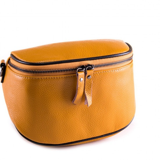 Жіноча сумочка з натуральної шкіри ALEX RAI 39033 жовтий