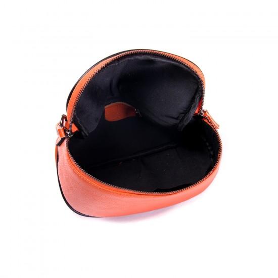 Жіноча сумочка з натуральної шкіри ALEX RAI 39033 помаранчевий