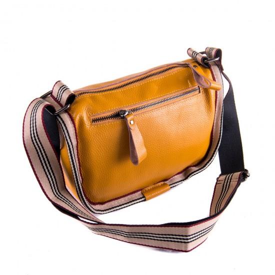 Женская сумочка из натуральной кожи ALEX RAI 39034 желтый