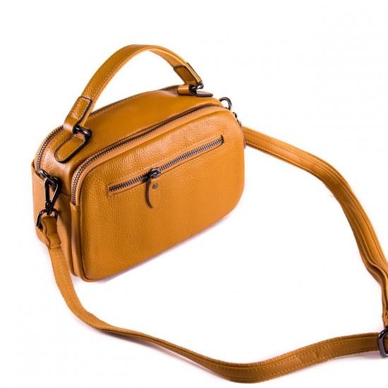 Женская сумочка из натуральной кожи ALEX RAI 2903 желтый