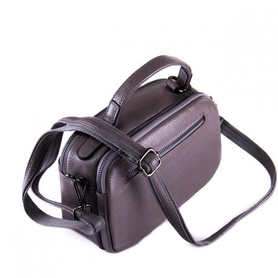 Женская сумочка из натуральной кожи ALEX RAI 2903 серый