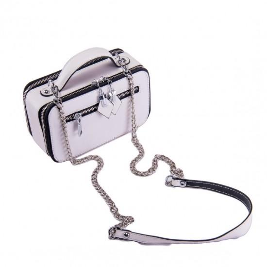 Женская сумочка из натуральной кожи ALEX RAI 29017 белый