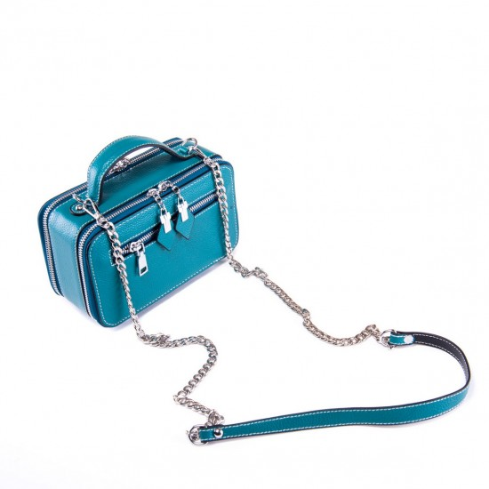 Жіноча сумочка з натуральної шкіри ALEX RAI 29017 синій