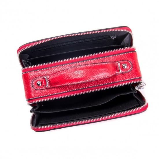 Жіноча сумочка з натуральної шкіри ALEX RAI 29017 червоний
