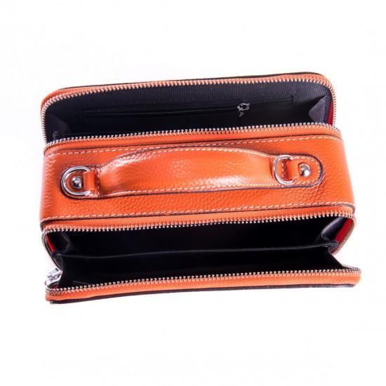 Жіноча сумочка з натуральної шкіри ALEX RAI 29017 помаранчевий