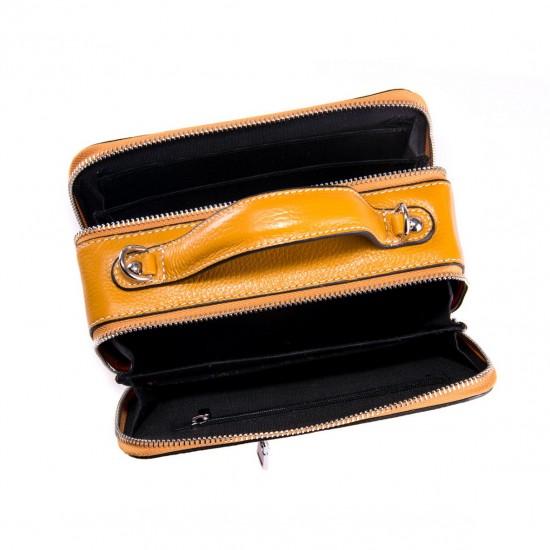 Жіноча сумочка з натуральної шкіри ALEX RAI 29017 жовтий