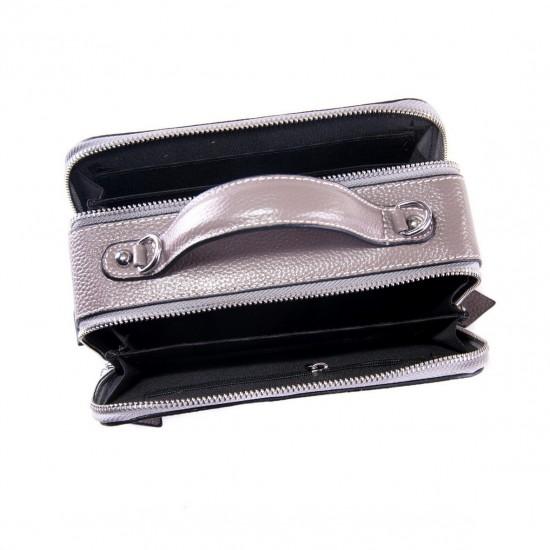 Женская сумочка из натуральной кожи ALEX RAI 29017 серый