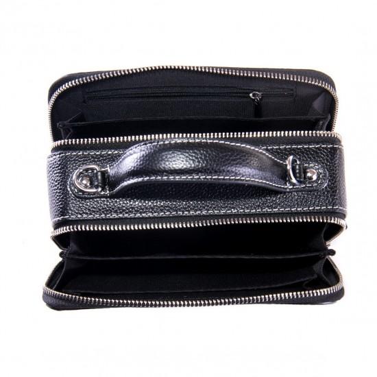 Жіноча сумочка з натуральної шкіри ALEX RAI 29017 чорний