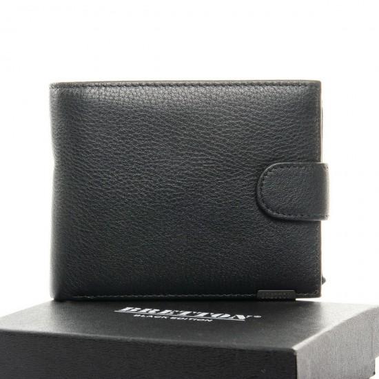 Чоловічий шкіряний портмоне BRETTON BE 208-3204 чорний