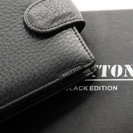 Мужской кожаный портмоне BRETTON BE 208-0611 черный
