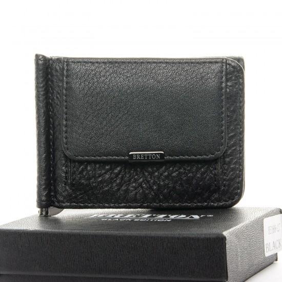 Мужской кожаный портмоне BRETTON BE 168-27 черный