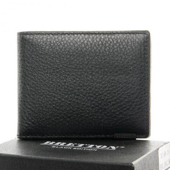 Мужской кожаный портмоне BRETTON BE 168-26 черный