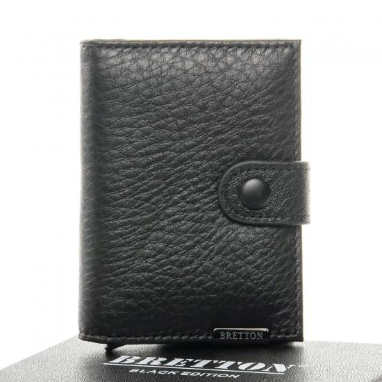 Чоловічий шкіряний портмоне BRETTON BE 163-22 чорний