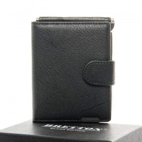 Чоловічий шкіряний портмоне BRETTON BE 1-168-27A чорний