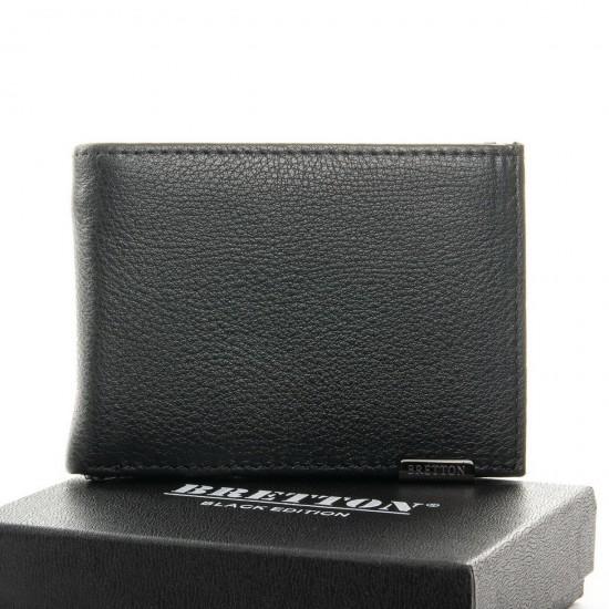 Чоловічий шкіряний портмоне BRETTON BE 168-24A чорний